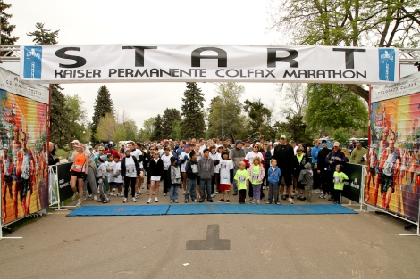 Starting line at the 2012 Marathon!